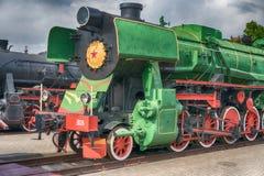 Παλαιά ατμομηχανή ατμού σε ένα υπαίθριο μουσείο στοκ εικόνες