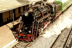 Παλαιά ατμομηχανή ατμού στοκ φωτογραφίες