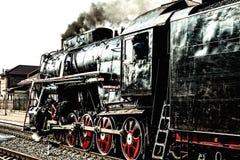 Παλαιά ατμομηχανή ατμού στοκ φωτογραφία