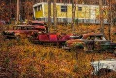 Παλαιά αυτοκίνητα στη βουνοπλαγιά στοκ φωτογραφίες με δικαίωμα ελεύθερης χρήσης