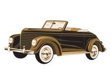 παλαιά αφίσα αυτοκινήτων Ελεύθερη απεικόνιση δικαιώματος