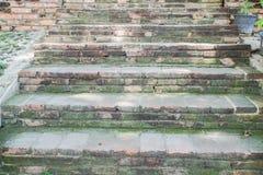 Παλαιά βήματα σκαλοπατιών τούβλου Στοκ φωτογραφία με δικαίωμα ελεύθερης χρήσης