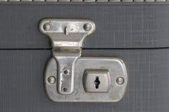 παλαιά βαλίτσα κλειδωμάτ Στοκ Φωτογραφίες