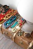 παλαιά βαλίτσα λαμπτήρων χ&al Στοκ Φωτογραφία
