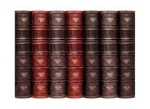 Παλαιά βιβλία με το δέρμα δέρματος Στοκ φωτογραφίες με δικαίωμα ελεύθερης χρήσης