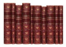 Παλαιά βιβλία με το δέρμα δέρματος Στοκ φωτογραφία με δικαίωμα ελεύθερης χρήσης