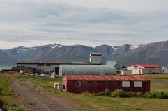 παλαιά βιομηχανικά κτήρια στην Ισλανδία Στοκ φωτογραφία με δικαίωμα ελεύθερης χρήσης