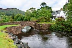 Παλαιά γέφυρα βράχου σε Gairloch, Σκωτία Στοκ Εικόνα