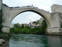 Παλαιά γέφυρα Μοστάρ στοκ φωτογραφίες