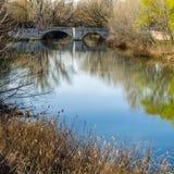 Παλαιά γέφυρα πετρών στην πόλη Palencia, Ισπανία στοκ εικόνες με δικαίωμα ελεύθερης χρήσης
