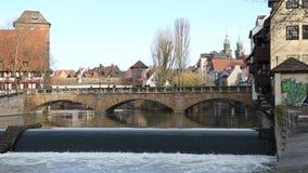 Παλαιά γέφυρα πετρών στη Γερμανία απόθεμα βίντεο