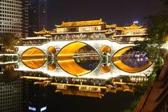 Παλαιά γέφυρα σε Chengdu, Κίνα στοκ εικόνα