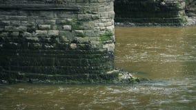 Παλαιά γέφυρα στον ποταμό απόθεμα βίντεο