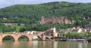 Παλαιά γέφυρα Alte Brucke και Χαϋδελβέργη Castle στη Χαϋδελβέργη, Γερμανία φιλμ μικρού μήκους
