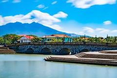Παλαιά γέφυρα, las filipinas de casas acuzar, Φιλιππίνες Στοκ Φωτογραφίες