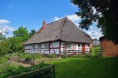 Παλαιά γερμανική καλύβα στο μουσείο κοντά Schwerin Στοκ φωτογραφίες με δικαίωμα ελεύθερης χρήσης