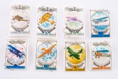 παλαιά γραμματόσημα Στοκ Εικόνα