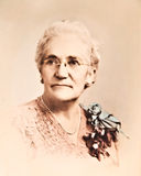 παλαιά γυναίκα reto πορτρέτο&upsi Στοκ Φωτογραφία
