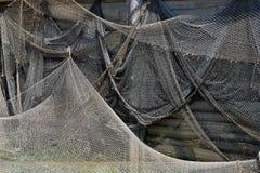 Παλαιά δίχτια του ψαρέματος. Στοκ Εικόνα