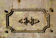 Παλαιά διακοσμητική ανασκόπηση πυλών μετάλλων Στοκ Εικόνες