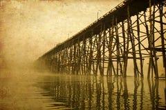 παλαιά δομή εικόνας γεφυρών ξύλινη Στοκ φωτογραφίες με δικαίωμα ελεύθερης χρήσης