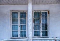 Παλαιά δύο παράθυρα Στοκ εικόνα με δικαίωμα ελεύθερης χρήσης