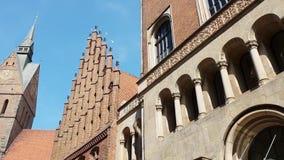 Παλαιά εκκλησία αγοράς στο Αννόβερο Γερμανία απόθεμα βίντεο