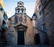 Παλαιά εκκλησία και κουδούνια Dubrovnik Στοκ εικόνα με δικαίωμα ελεύθερης χρήσης
