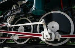 Παλαιά εκλεκτής ποιότητας ατμομηχανή τραίνων κινηματογραφήσεων σε πρώτο πλάνο κινητήριος παλαιός ατμός μ& μαύρη ατμομηχανή Παλαιό στοκ φωτογραφία με δικαίωμα ελεύθερης χρήσης
