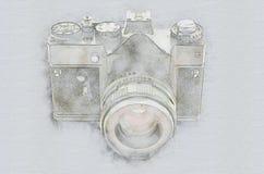 Παλαιά εκλεκτής ποιότητας κάμερα ελεύθερη απεικόνιση δικαιώματος