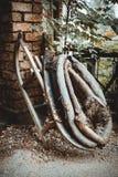 Παλαιά εκλεκτής ποιότητας περιλαίμιο και έλκηθρο λουριών αλόγων Στοκ Φωτογραφίες