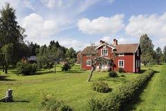 Παλαιά εξοχικά σπίτια από τη Σουηδία Στοκ Εικόνες