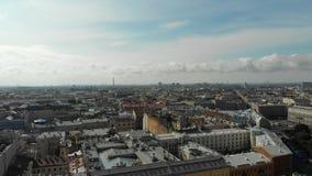 Παλαιά ευρωπαϊκή εναέρια άποψη πόλεων φιλμ μικρού μήκους