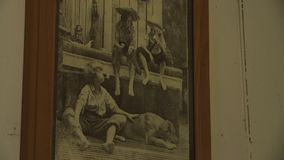 Παλαιά ζωγραφική των παιδιών απόθεμα βίντεο