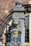 Παλαιά ιστορική αίθουσα πόλεων Στοκ εικόνες με δικαίωμα ελεύθερης χρήσης