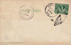 παλαιά κάρτα του 1907 Στοκ εικόνες με δικαίωμα ελεύθερης χρήσης