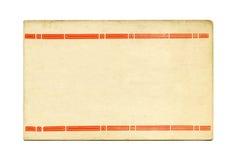 παλαιά κάρτα Στοκ εικόνα με δικαίωμα ελεύθερης χρήσης