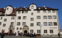 Παλαιά καγκελερία, πρόσοψη σε Schillerplatz, Στουτγάρδη, Γερμανία Στοκ Φωτογραφίες