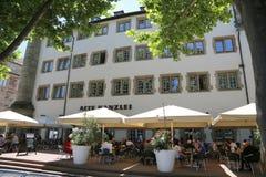 Παλαιά καγκελερία, πρόσοψη σε Schillerplatz, Στουτγάρδη, Γερμανία Στοκ Εικόνα