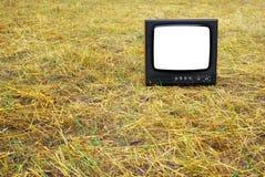 παλαιά καθορισμένη τηλεόρ Στοκ εικόνα με δικαίωμα ελεύθερης χρήσης