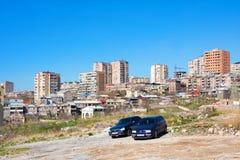Παλαιά και σύγχρονα κτήρια στην κεντρική περιοχή σε Jerevan, Αρμενία Στοκ εικόνες με δικαίωμα ελεύθερης χρήσης