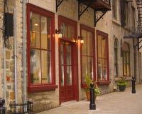 παλαιά καταστήματα του Κεμπέκ πόλεων του Καναδά στοκ φωτογραφία