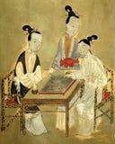 Παλαιά κινεζική εικόνα τριών γυναικών Στοκ εικόνα με δικαίωμα ελεύθερης χρήσης