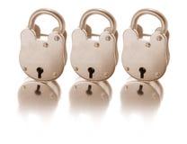 παλαιά κλειδώματα Στοκ εικόνες με δικαίωμα ελεύθερης χρήσης