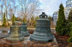 Παλαιά κουδούνια ως μνημείο στο μοναστήρι Kazan Στοκ εικόνες με δικαίωμα ελεύθερης χρήσης
