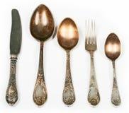 παλαιά κουτάλια μαχαιριώ&n Στοκ Φωτογραφία