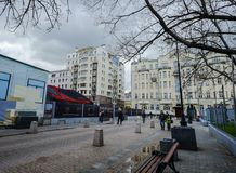 Παλαιά κτήρια στη Μόσχα, Ρωσία Στοκ φωτογραφίες με δικαίωμα ελεύθερης χρήσης