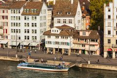 Παλαιά κωμόπολη της πόλης της Ζυρίχης, Ελβετία Στοκ φωτογραφία με δικαίωμα ελεύθερης χρήσης