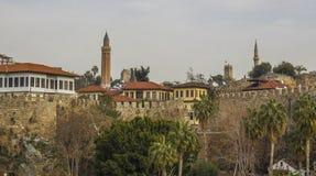 Παλαιά κωμόπολη Antalya, παλαιά πόλη Antalya Στοκ φωτογραφία με δικαίωμα ελεύθερης χρήσης