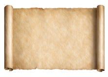 Παλαιά κύλινδρος ή περγαμηνή εγγράφου που απομονώνεται ελεύθερη απεικόνιση δικαιώματος
